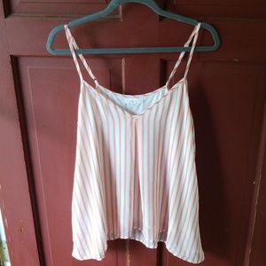 Flowy striped tank top